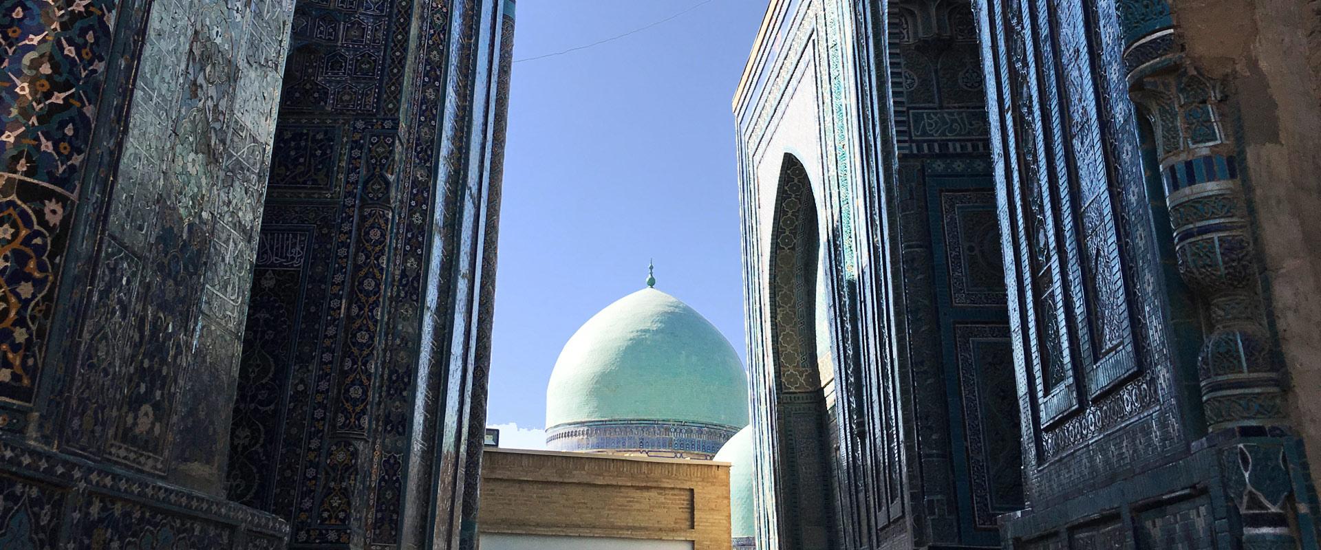 Shohi Zinda Samarkand Veres Vert